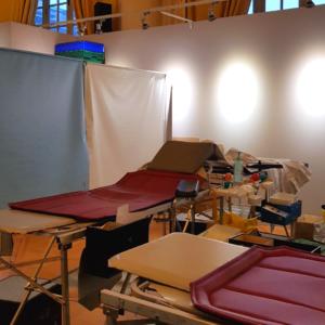L'installation d'une collecte de sang