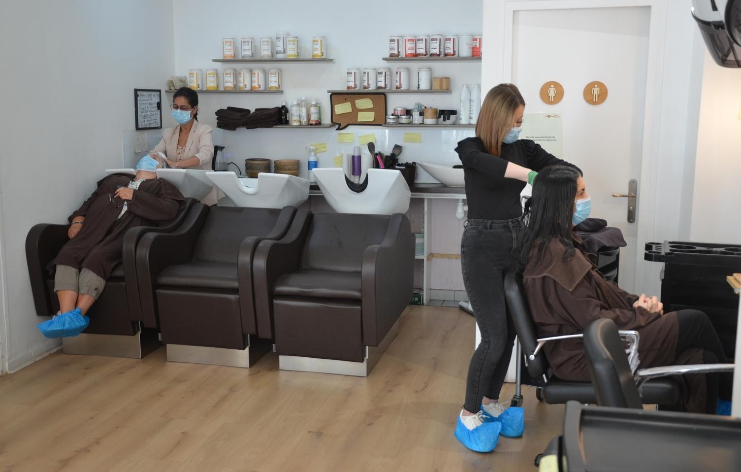 Un salon de coiffure Biocoiff' après le confinement