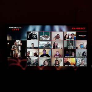 Naïm en live-streaming à l'Apollo théâtre